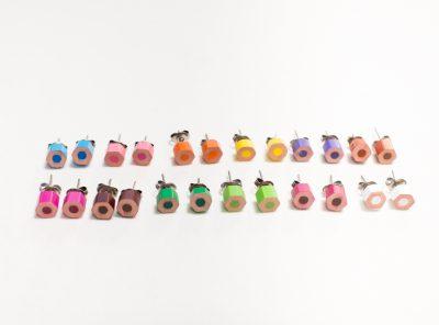 Flat earrings
