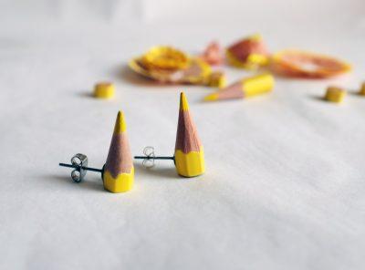 Pendientes Sharp – amarillo
