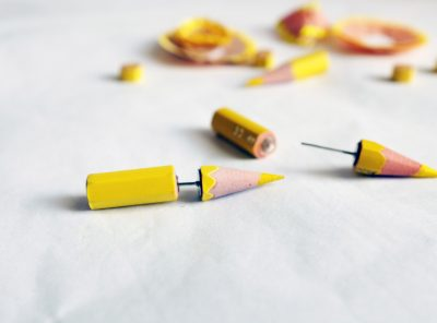 Pendientes Punk – amarillo