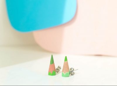 Sharp earrings verde claro