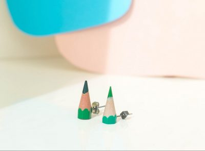 Sharp earrings verde