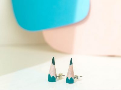 Sharp earrings verde oscuro