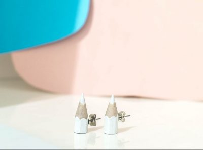 Sharp earrings blancos