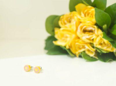 Pendientes Flat – amarillo