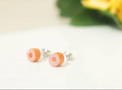 Pendientes Flat – naranja