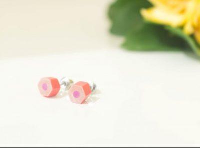 Pendientes Flat – rosa